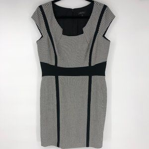 Tahari Arthur Levine Houndstooth Career Dress 10